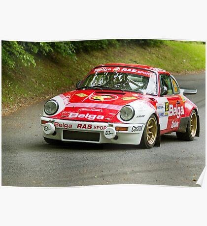 Porsche Rally Car at Loughgall Poster