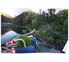 Beautiful Tasmania - Soaring across Cataract Gorge Poster