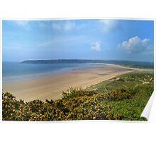 Nicholaston Burrows & Oxwich Bay, Gower Peninsula Poster