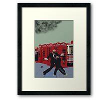 London Matrix, Punching Mr Smith Framed Print