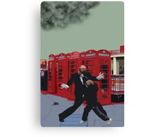 London Matrix, Punching Mr Smith Canvas Print