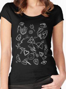 zelda items  Women's Fitted Scoop T-Shirt
