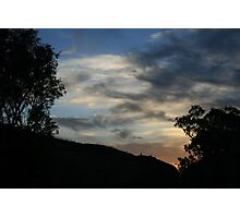 At the end of the day. Photographic Print