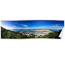 Panorama of Gibraltar and Spain Looking back at Gibraltar and Spain from the rock of Gibraltar! Poster