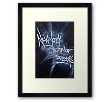 New York City Graffiti Framed Print