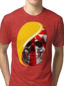 Blond Skull Tri-blend T-Shirt