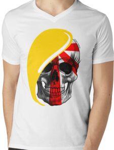 Blond Skull Mens V-Neck T-Shirt