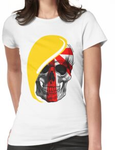 Blond Skull Womens Fitted T-Shirt