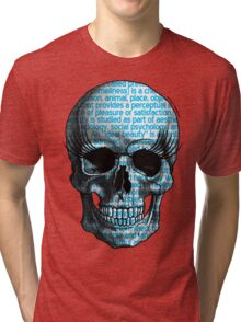 Beauty Skull Tri-blend T-Shirt