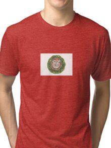 Holiday Hedgehog ~ Season's Greetings! Tri-blend T-Shirt