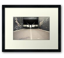 Thro' the tunnel..... Framed Print