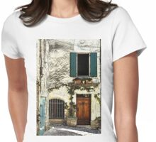 Green shutters Womens Fitted T-Shirt