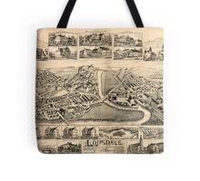 Panoramic Maps Lonsdale Rhode Island 1888 Tote Bag