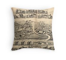 Panoramic Maps Lonsdale Rhode Island 1888 Throw Pillow