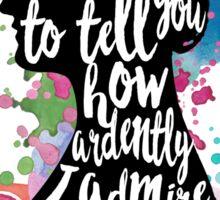 Mr.Darcy - Ardently Admire & Love Sticker