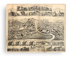Panoramic Maps Lonsdale Rhode Island 1888 Metal Print
