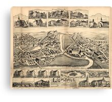 Panoramic Maps Lonsdale Rhode Island 1888 Canvas Print