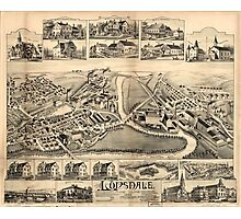 Panoramic Maps Lonsdale Rhode Island 1888 Photographic Print
