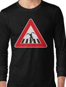 Caution - Necromorph Crossing Long Sleeve T-Shirt