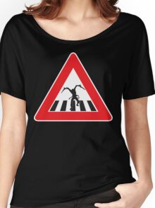 Caution - Necromorph Crossing Women's Relaxed Fit T-Shirt