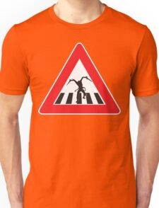 Caution - Necromorph Crossing Unisex T-Shirt