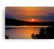 Calm Sunrise Landscape Canvas Print