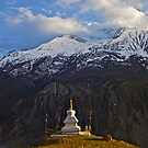 Annapurna evening, Nepal by John Spies