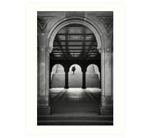 Bethesda Underpass at Central Park, New York City Art Print