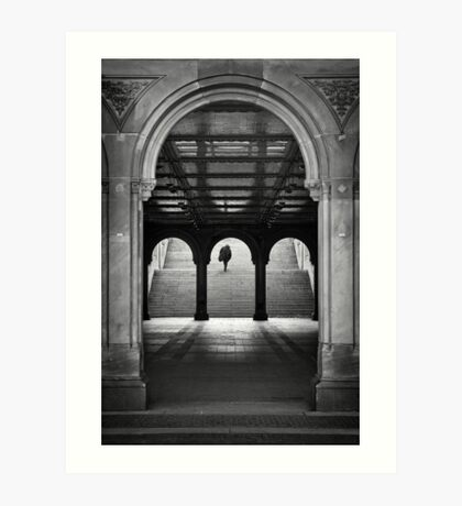 Bethesda Underpass at Central Park, New York City Art Print