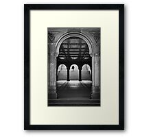 Bethesda Underpass at Central Park, New York City Framed Print
