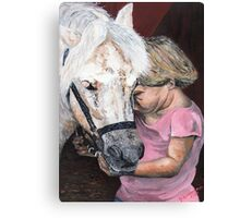 That Special Bond Between A Girl and Her Horse Canvas Print