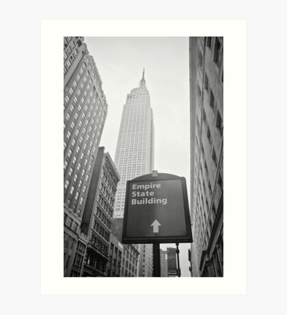 The Empire State Building, New York City Art Print