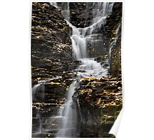 Winding Waterfall Landscape Poster