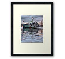 HMS Belfast At Twlight Framed Print