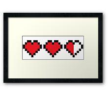 8BIT  Videogame Life indicators Framed Print