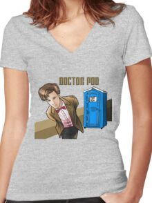 Doctor Poo Women's Fitted V-Neck T-Shirt