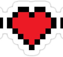 8 BIT  Videogame Life indicators Sticker