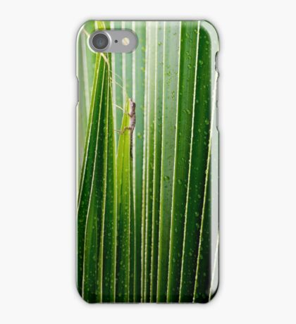Lizard Amongst The Leaves iPhone Case/Skin