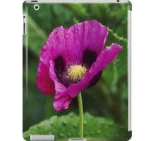 Purple poppy iPad Case/Skin