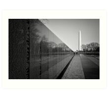 The Vietnam Veterans Memorial, Washington DC Art Print