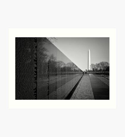 The Vietnam Veterans Memorial, Washington DC Art Print