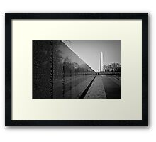 The Vietnam Veterans Memorial, Washington DC Framed Print
