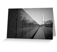 The Vietnam Veterans Memorial, Washington DC Greeting Card