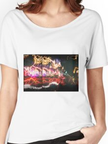 Lightpainting Triptych Wall Art Print Photograph 3 Women's Relaxed Fit T-Shirt