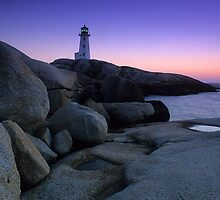 Peggys Cove Lighthouse by Bob Christopher