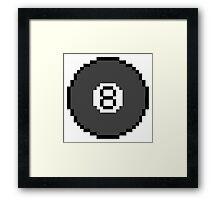 8 bit 8 Ball Framed Print