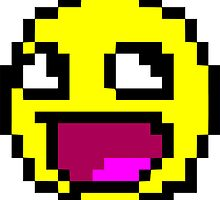 Awesome MEME face  - 8 bit by coolvintage