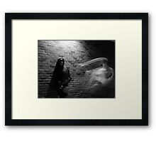 Me and my friendly ghost Framed Print