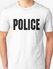 FOO FIGHTERS TAYLOR HAWKINS POLICE TEE (BLACK TEXT) T-Shirt