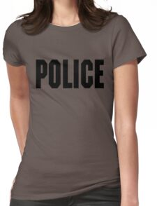 FOO FIGHTERS TAYLOR HAWKINS POLICE TEE (BLACK TEXT) Womens Fitted T-Shirt